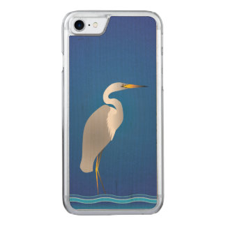 Egret on the Beach Carved iPhone 8/7 Case