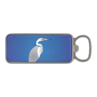 Egret on the Beach Magnetic Bottle Opener