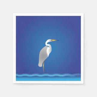 Egret on the Beach Paper Napkin