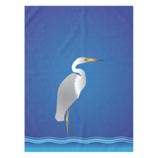 Egret on the Beach Tablecloth