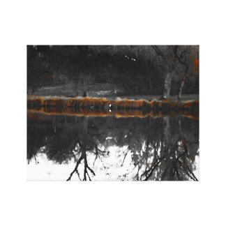 "Egret on ""Walden"" I Canvas Print"