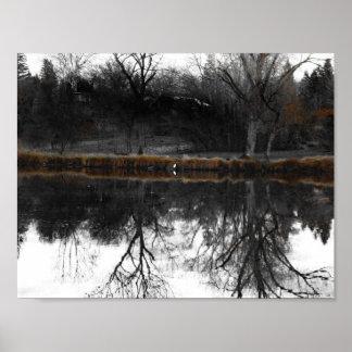 """Egret on """"Walden"""" I Poster"""