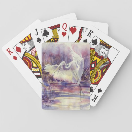 Egret Playing Cards