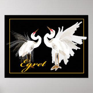 Egret Poster