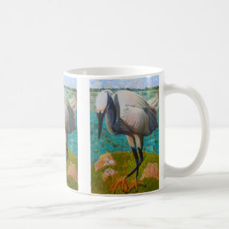 Egret Ready to Strike Mug