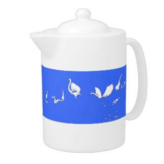 Egret Silhouettes Teapot