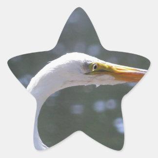 egret star sticker