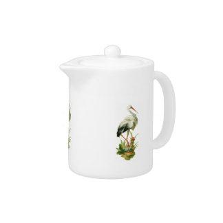 Egret Teapot
