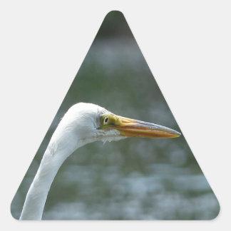 egret triangle sticker
