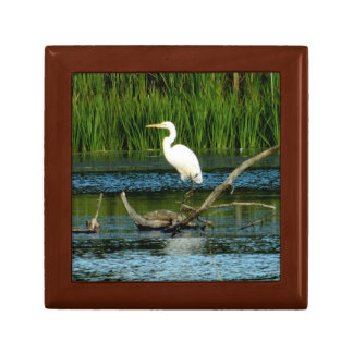 Egret Wood Jewelry Box