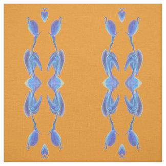 egrets group on orange fabric