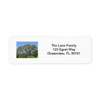 Egrets in a Tree Label Return Address Label