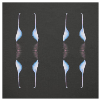 egrets on black fabric