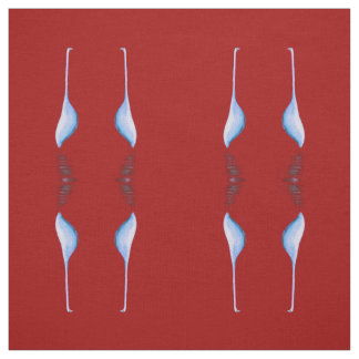 egrets on red fabric