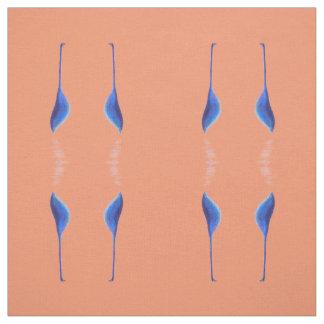 egrets on transparent fabric