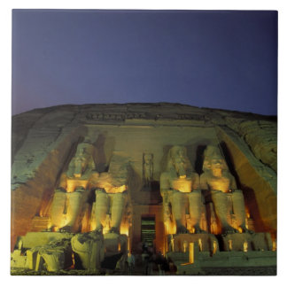 Egypt, Abu Simbel, Colossal figures of Ramesses Tile