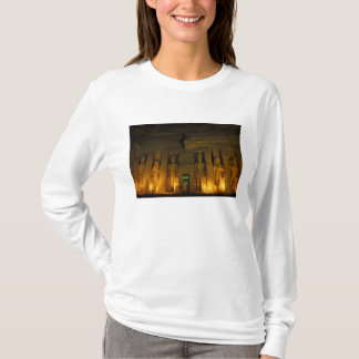 Egypt, Abu Simbel, Lighted facade of Small T-Shirt