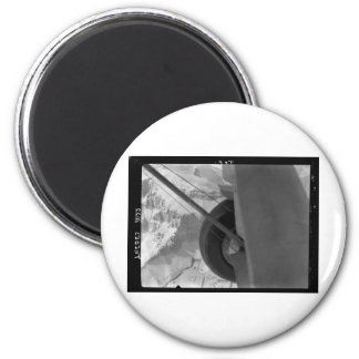 Egypt. Air view Looking down on hills and temples 2 Inch Round Magnet