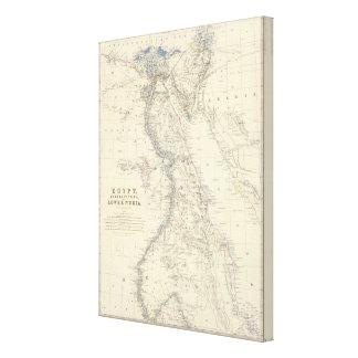 Egypt, Arabia Petraea, Nubia Stretched Canvas Prints