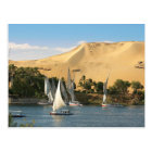 Egypt, Aswan, Nile River, Felucca sailboats, 2 Postcard