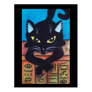 Egypt Black Cat Postcard