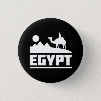 Egypt Camel Silhouette 1 Inch Round Button