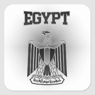 Egypt Coat of Arms Square Sticker