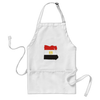egypt country flag map standard apron