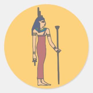 Egypt divinity Isis Egypt Deity Classic Round Sticker