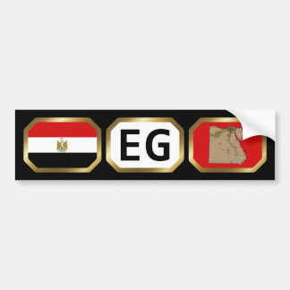 Egypt Flag Map Code Bumper Sticker