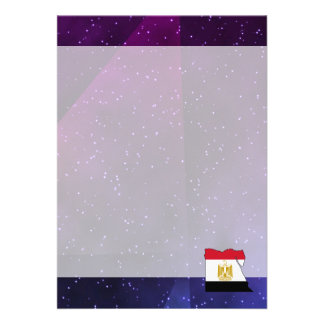 """egypt Flag Map on abstract space background 5"""" X 7"""" Invitation Card"""