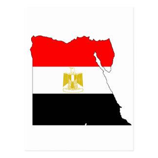 Egypt flag map postcard