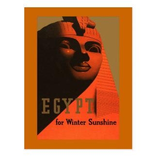 Egypt for Winter Sunshine Vintage Travel Postcard