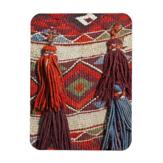 Egypt, Giza. Camel blanket at the Pyramids of Rectangular Photo Magnet