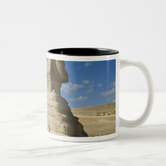 Egypt, Giza. The great Sphynx rises above the 2 Two-Tone Coffee Mug