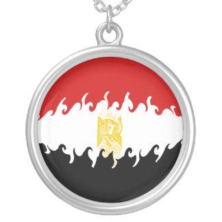 Egypt Gnarly Flag Round Pendant Necklace