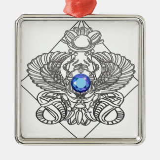 Egypt Gods torus Metal Ornament