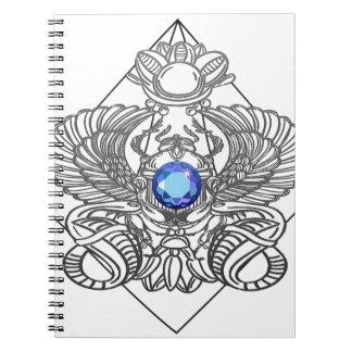 Egypt Gods torus Spiral Notebook