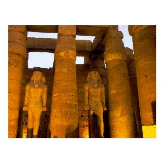 Egypt, Luxor.  Karnack Temple. Postcard