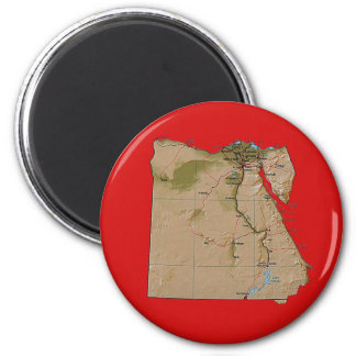 Egypt Map Magnet
