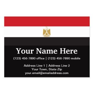 Egypt Plain Flag Pack Of Chubby Business Cards