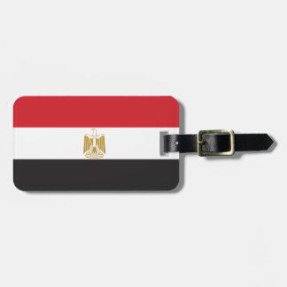 Egypt Plain Flag Luggage Tag