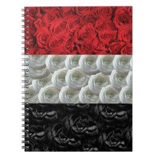 Egypt Roses Flag Note Book