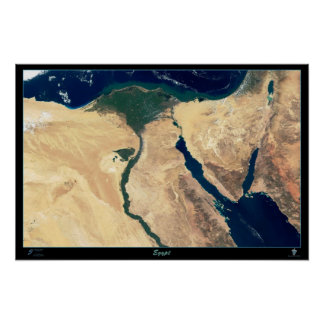 Egypt Satellite Poster Map Print From Space