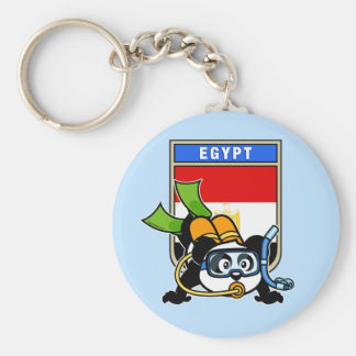 Egypt Scuba Diving Panda Keychain