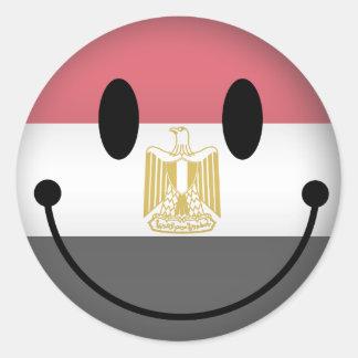 Egypt Smiley Classic Round Sticker