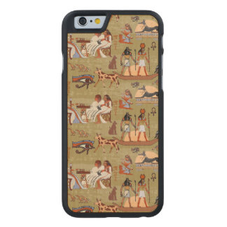 Egypt | Symbols Pattern Carved Maple iPhone 6 Case