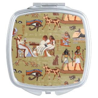 Egypt | Symbols Pattern Compact Mirror