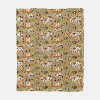 Egypt | Symbols Pattern Fleece Blanket