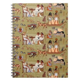 Egypt   Symbols Pattern Spiral Notebook